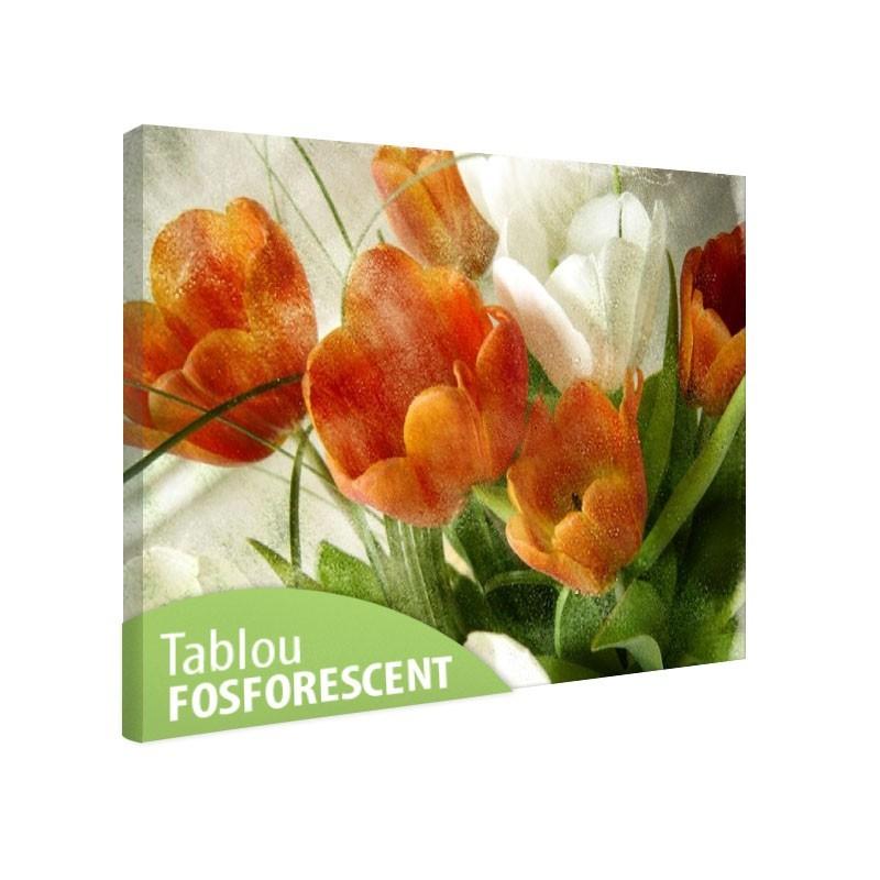Tablou fosforescent Lalele portocalii