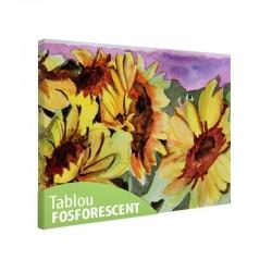 Tablou fosforescent Pictura cu floarea soarelui