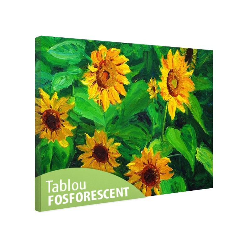 Tablou fosforescent Florile soarelui