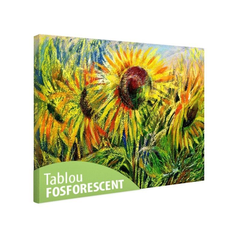 Tablou fosforescent Camp de floarea soarelui