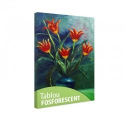Tablou fosforescent Crini rosii