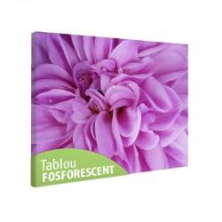 Tablou fosforescent Floare violet in detaliu