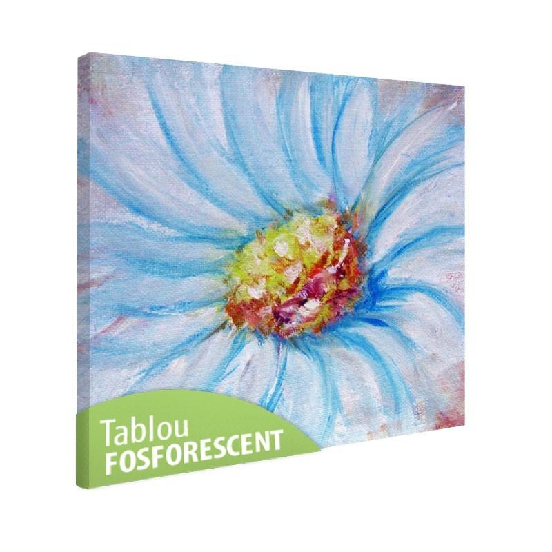 Tablou fosforescent Floare albastra
