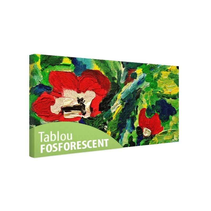 Set tablou fosforescent Flori pictate in ulei