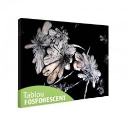 Tablou fosforescent Flori de cristal