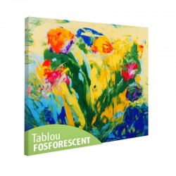 Set tablou fosforescent Abstract pe sticla