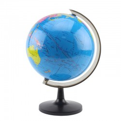 Glob pamantesc cu harta politica, 21.4 cm, limba engleza, suport ABS