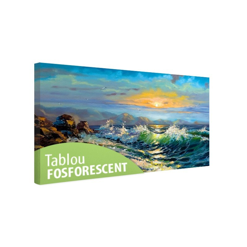 Tablou fosforescent Furtuna pe mare