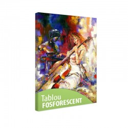 Tablou fosforescent Cantand la violoncel