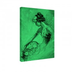 Tablou fosforescent Portretul unei fete cu flori