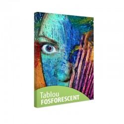 Tablou fosforescent Fata abstracta