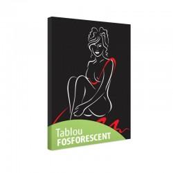 Tablou fosforescent Silueta femeie