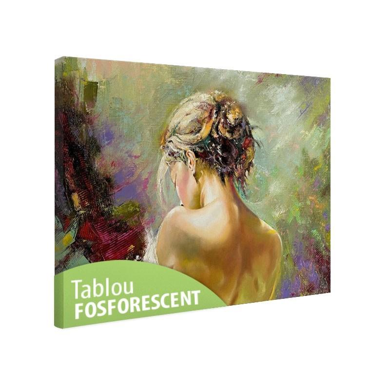 Tablou fosforescent Spate de femeie