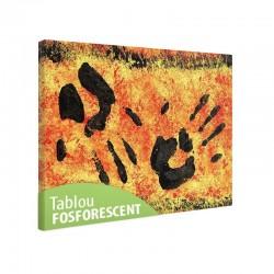 Tablou fosforescent Amprenta mainilor