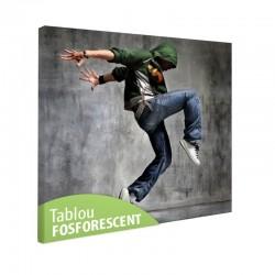 Tablou fosforescent Dansator Breakdance
