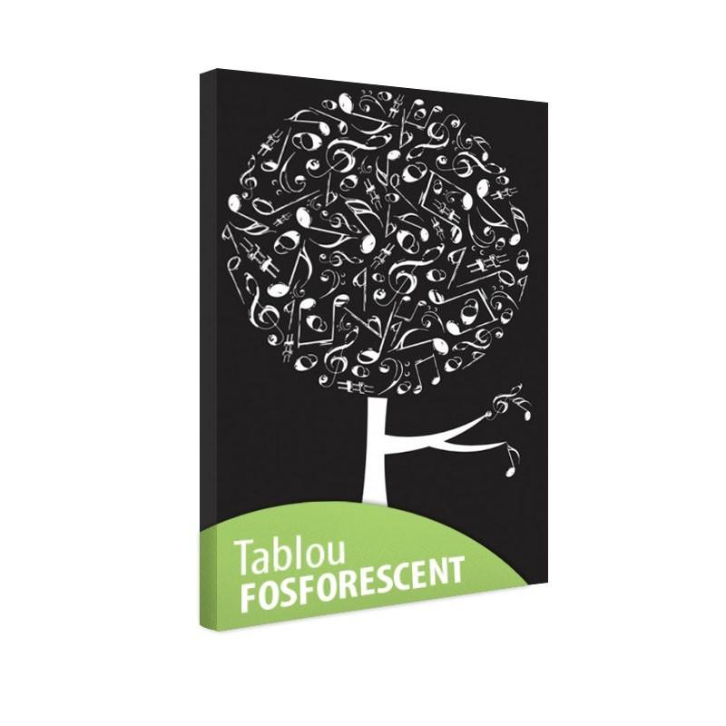 Tablou fosforescent Copac muzical