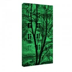 Tablou fosforescent Casa din spatele copacului