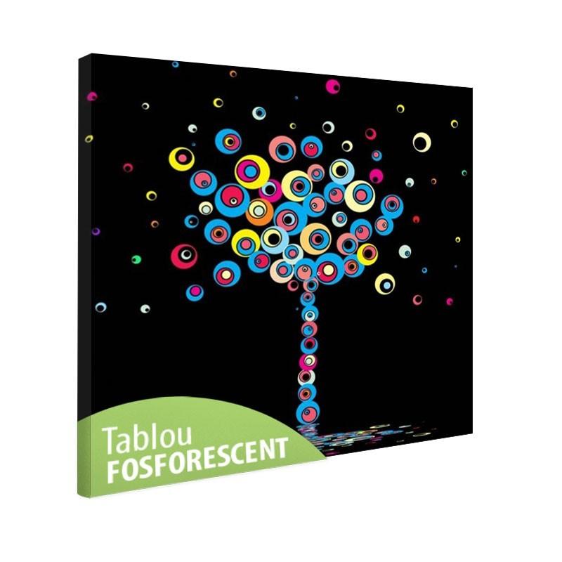 Tablou fosforescent Copac in culori