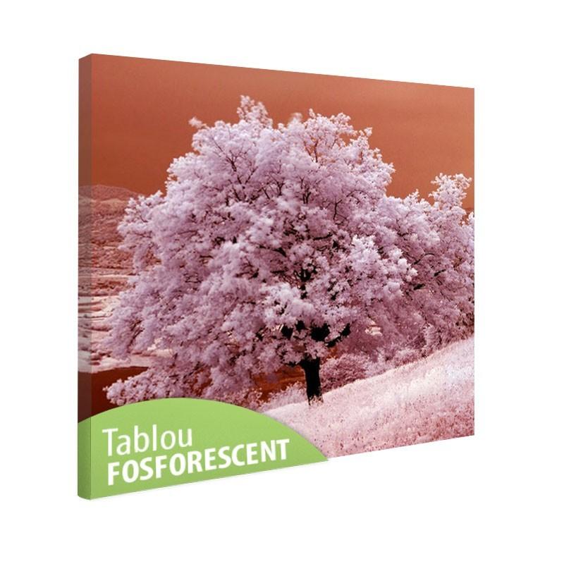 Tablou fosforescent Copac iarna