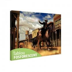 Tablou fosforescent Cowboy din Vestul Salbatic
