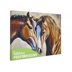 Tablou fosforescent Pereche de cai