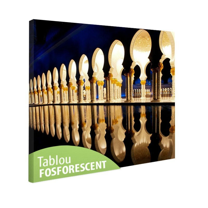 Tablou fosforescent Moschee in Abu Dhabi