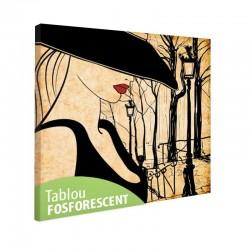 Tablou fosforescent Femeie in Paris