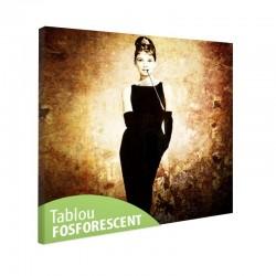 Tablou fosforescent Actrita Audrey Hepburn