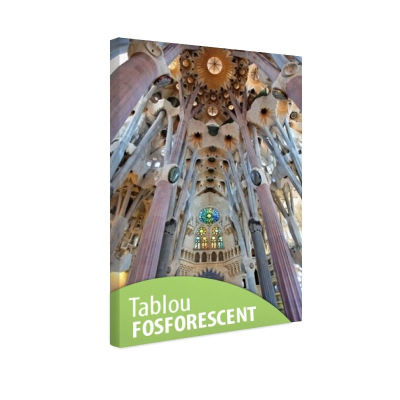 Tablou fosforescent Sagrada Familia in interior