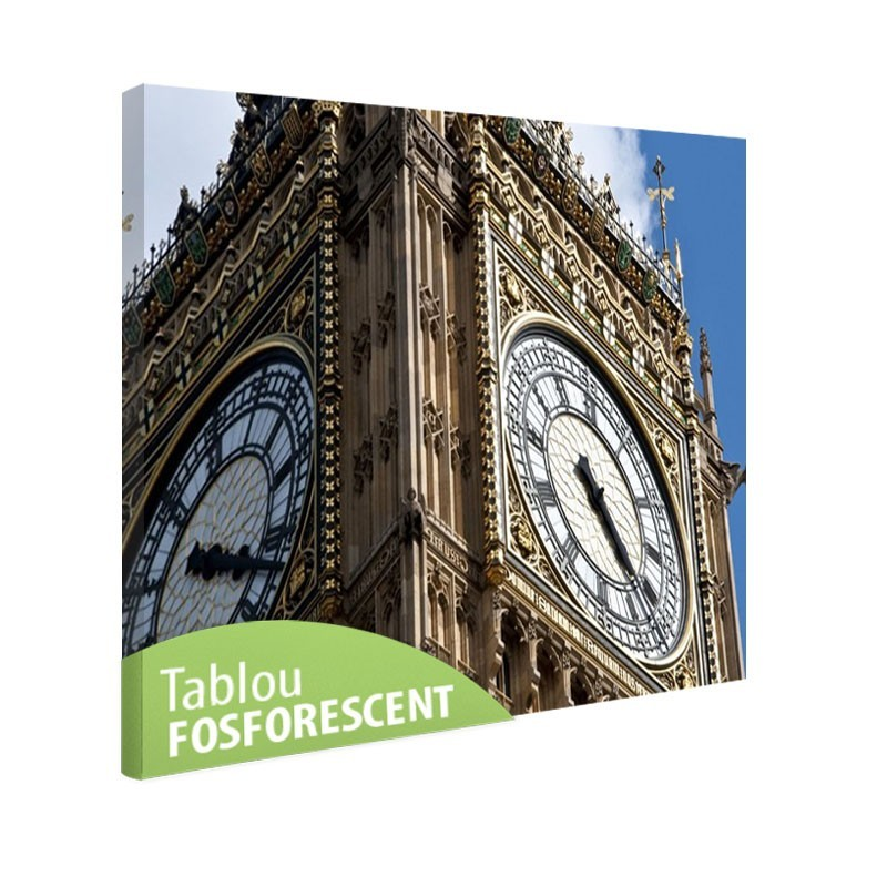 Tablou fosforescent, 20x30 cm, Londra Big Ben
