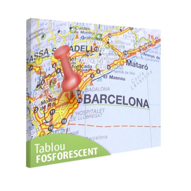 Tablou fosforescent Barcelona