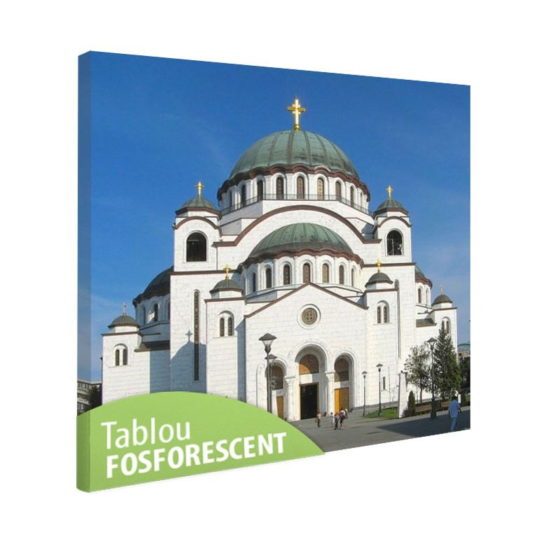 Tablou fosforescent Catedrala Sf. Sava