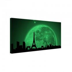 Tablou fosforescent Parisul in lumina lunii