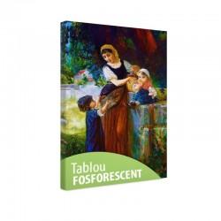 Tablou fosforescent Mama si copiii