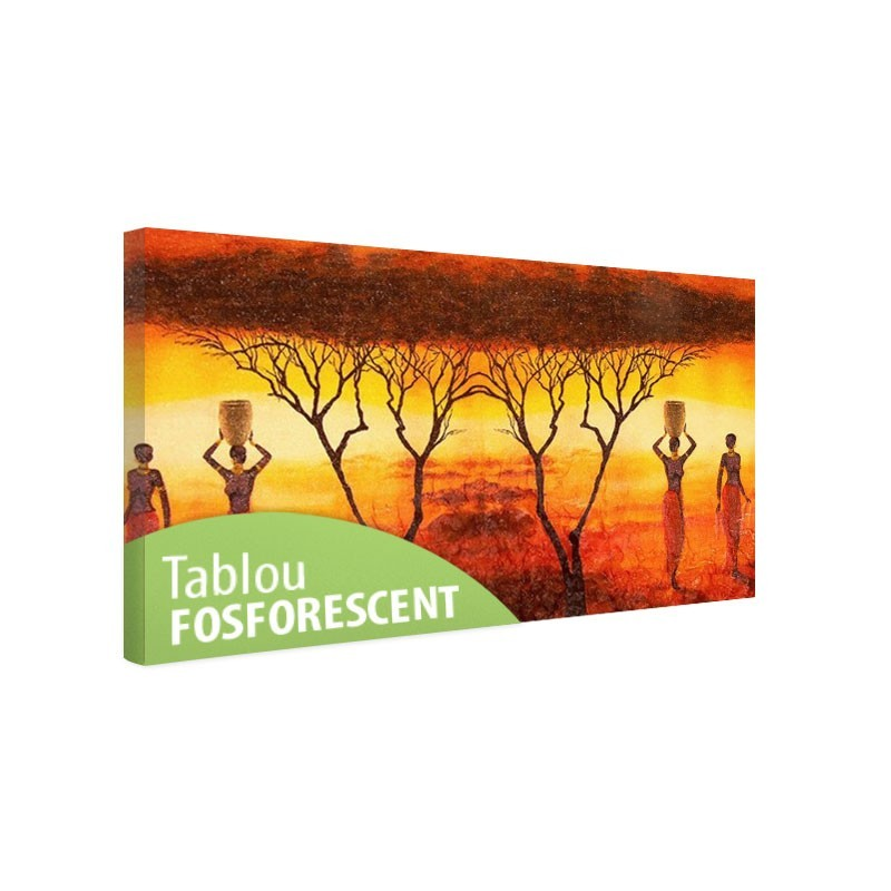 TaTablou fosforescent Tema africana