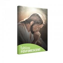 Tablou fosforescent Iisus rugandu-se