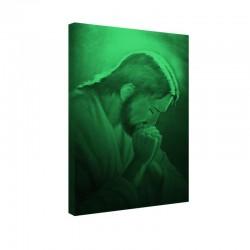 Tablou fosforescent Isus rugandu-se
