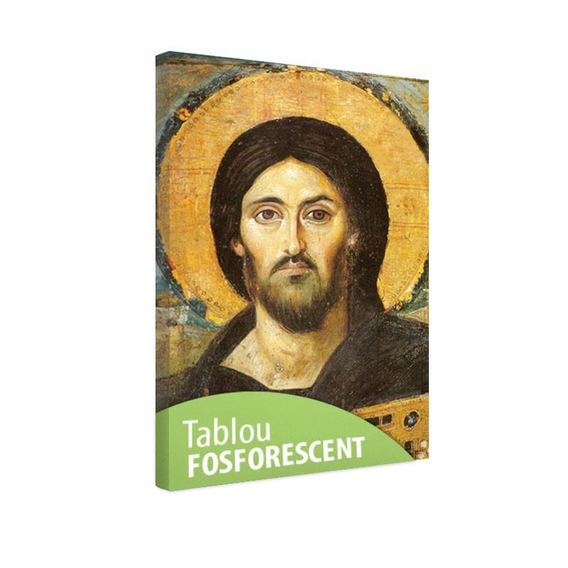 Tablou fosforescent Isus cu biblia
