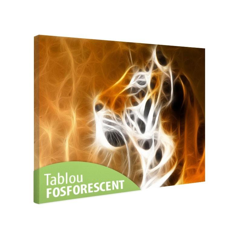 Tablou fosforescent Cap de tigru