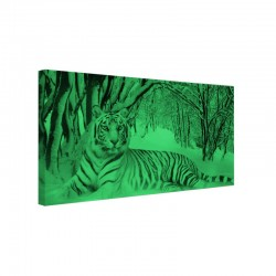 Tablou canvas fosforescent Tigru alb
