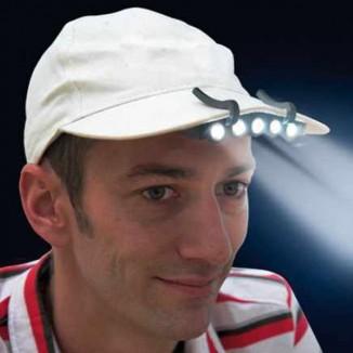 Lanterna cu 5 LEDuri superluminoase pentru sapca