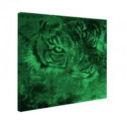 Tablou fosforescent Tigru albastru si rosu