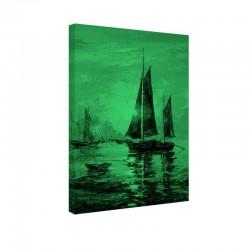 Tablou fosforescent  Barca cu panze