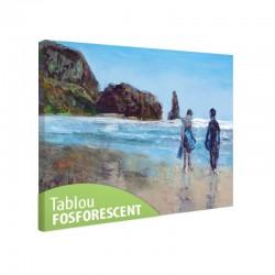 Tablou fosforescent Cuplu pe plaja
