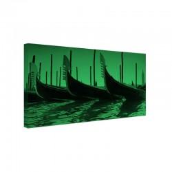 Tablou fosforescent Gondole in Venetia