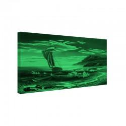 Tablou fosforescent Barca cu panze in mare