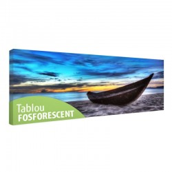 Tablou fosforescent Barca pe nisip