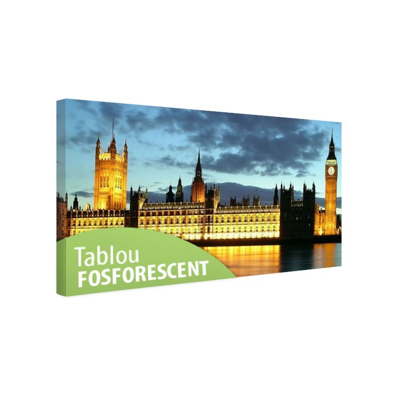 Tablou fosforescent Big Ben si Palatul Parlamentului