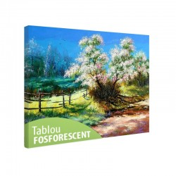 Tablou fosforescent Copac inflorit