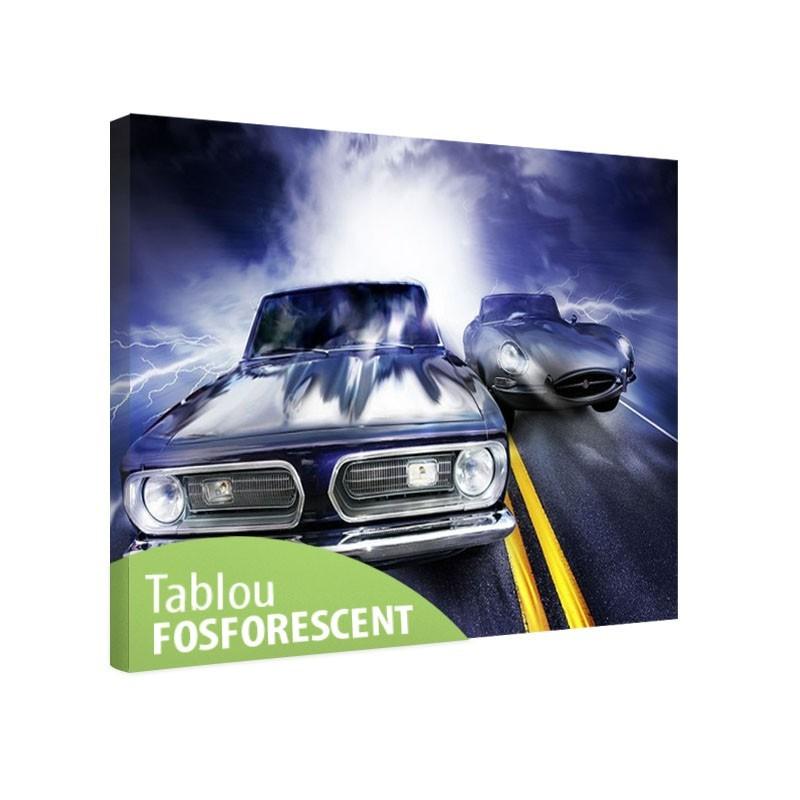 Tablou fosforescent Intrecere de masini